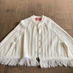 White Girls size 2-4T poncho